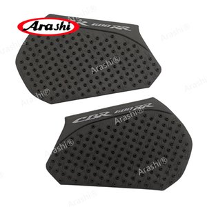 Arshi For HONDA CBR600RR 2013-2017 Tank Pad Protector Sticker Decal Soft Side Pad Gas Fuel Calcomanías de rodilla CBR 600 RR 2013 14 15 16 17