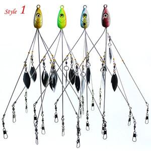 5 Arms 알라바마 어업 그룹은 우산 리깅 금속 낚시 바이스 헤드 수영 미끼베이스 스팽글 스피너 베이트 알라바마 루어 21.5cm 18g