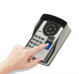 7 inç renkli akıllı video kapı zili parmak izi şifre uzaktan açma video interkom yağmur geçirmez gece görüş fonksiyonu