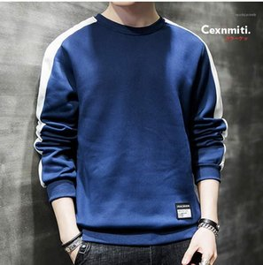 Striped Males Apparel Panelled Mens Designer Hoodies Casual O Neck Clothing Pullover Long Sleeve Mens Sweatshirts