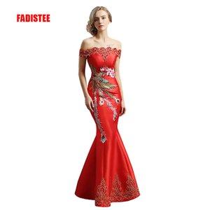 FADISTEE Recién llegado elegante vestido de fiesta vestido de noche Vestido de Festa apliques vestido largo de cristal