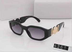 4361 Medusa Brand Designer Occhiali da sole in legno per uomo donna Fashion bufalo occhiali da sole Clear brown lens wooden frame