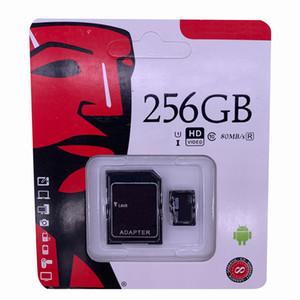 2019 أفضل بيع 64GB 128GB 256GB C10 TF بطاقة ذاكرة فلاش U1 U3 مجاني SD محول حزمة البيع بالتجزئة