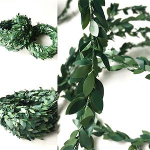 Plastik Demir Tel Rattan Ev Dekor DIY Malzeme Yeşil Yaprak Noel Restoran Düzeni Çelenk Yeni Varış 2 7ql L1