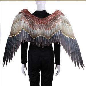 Cospty Disfraz De Pajaritos Burningman Festival Adulto Juego Japonés Onmyoji Cosplay Tengu Bird Traje de Carnaval Grandes Grandes Alas GB429