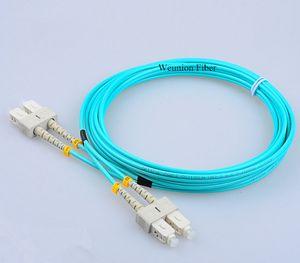 5 unids SC-SC OM3 50/125 MM Fibra óptica Cable de conexión Cable de fibra Dúplex FTTH 3 metros