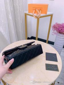 Weibliche Schulter Eimer Taschen Frau Abzeichen Ling Gitter-Kettenpaket geneigte Beutel Mini Lock-echte Leder-Handtasche Luxus-Handtasche