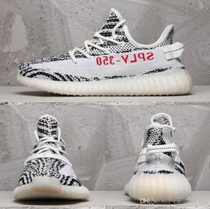 V2 True Form hiperespacio arcilla para hombre de los zapatos corrientes estáticas Kanye West crema Blanco Negro Blanco Criado Mujeres Moda Sport zapatillas de deporte 36-46