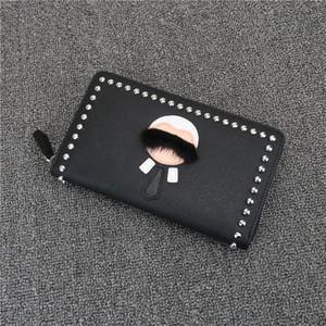 핫 판매 고품질의 작은 몬스터 남성 잡지 기사의 소 가죽 지갑 라파예트 지퍼 지갑 클러치 가죽 지갑 여성 패션