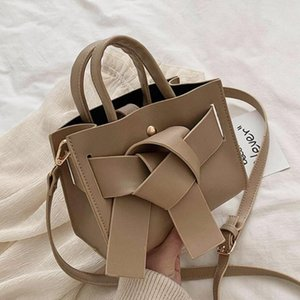 Elegant Female Bow Tote bag 2020 Fashion New High quality PU Leather Women's Designer Handbag Casual Shoulder Messenger Bag