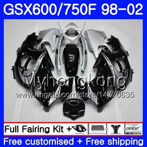 Corps pour SUZUKI KATANA GSXF 600 750 GSXF750 98 99 00 00 02 02 292HM.0 GSX 750F 600F GSXF600 1998 1999 2000 2001 2002 Carénage Noir