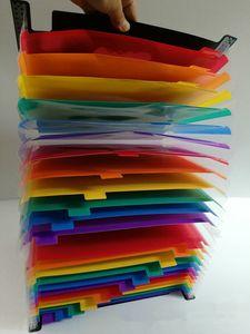 توسيع مجلد الملفات متعددة الالوان مع 24 جيوب المحمولة A4 ملف الأكورديون القابل للتوسيع المنظم ملف محافظ بلاستيكية عالية السعة # 180