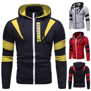 Mens Winter Coat Deisgner Mens Cardigan Hoodies Fashion Slim Patchwork Sweatshirt Casual