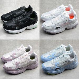 Womens Originals 2019 New Release Falcon W pai Zipper sapatos de rolo Correndo Chaussures Primeknit Branco Preto Sneakers Designer Esporte Formadores