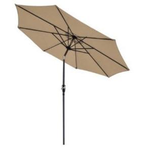 9ft 8ribs алюминиевый патио зонтик рынок козырек от Солнца стали наклона ж / кривошипно открытый