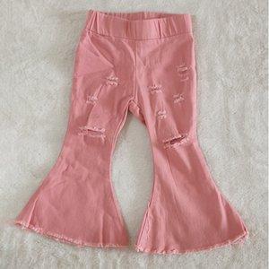bebek uzun pantolon yürümeye başlayan kızlar çocuklar kot yürümeye başlayan 2020 sıcak satış çocuklar tasarımcı pantolon kız kot giyim butik pantolon düşmek