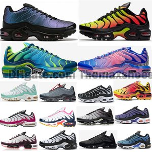 2020 Prime Gradient TN Plus og CQ GS Sunburst Decon Bleu Hero fureur Chaussures Hommes Femmes Triple Noir Or Violet Orange Rose formateurs Sneakers