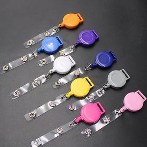 ABS retráctil cuerda de seguridad ID Badge Tarjeta Carretes soporte con clip Mantenga el teléfono celular llave de la caja de Protable Nombre Tarjeta de etiqueta Badge Holder BH2526 CY