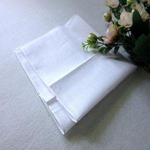 Fai da te cotone bianco fazzoletti ad alta densità bianco puro cotone Fazzoletto Towel Mens Suit Pure Color Pocket Piazza WY447Q