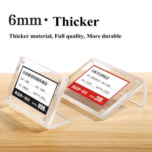 100 * 70mm magnétique Petite carte Étiquette de prix Porte-étiquette Case POP Up Display support de table Numéro acrylique signe titulaire stand