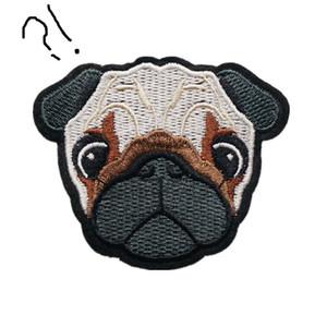 Ricamato Patch Pug Dog Shar Pei Cucire Ferro Sulle Patch Ricamo Distintivi Per Borsa Jeans Cappello T Shirt Appliques FAI DA TE Decorazione Artigianale