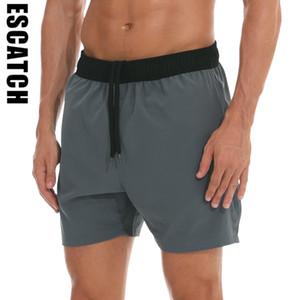 Escatch Marca New Verão 2020 shorts mens ginásio calções ES10Y de fitness Musculação correr treino