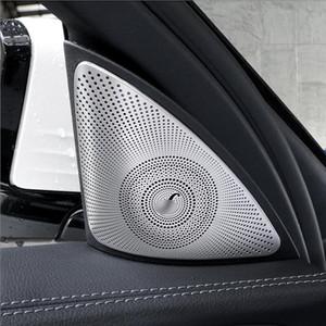 Paslanmaz Çelik Oto Kapı Ses Stereo Speaker pul Dekoratif Kapak Trim E sınıfı W213 16-19 stil için şeritler