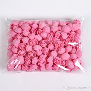 50pcs / lot Ours en peluche de mariage de mousse de roses fleurs décoratives décoration de Noël pour la maison cadeaux bricolage fleurs artificielles