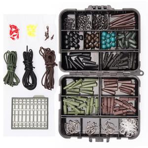 Caja de pesca paquete de seguridad de peso de la carpa clips ganchos gira Enlaces rápidos # 8