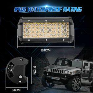 Luz de trabajo par 7Inch Quad-Fila 672W LED Spotlight Bar de dos colores Cree fichas SUV