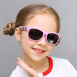 Kids Polarized Sunglasses 2019 Square Silicone Sun Glasses Boys Girls Pink Black Soft Safety Sunglass Child Childer UV400 Gafas