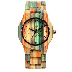 Sports CYRANA wooden wood woo madera women simple bobo bomboo color waterproof own brand reloj relojes watch quartz watch