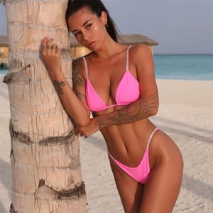 Melphieer Bikini neuer Badeanzug Kristalle Bikini Set Schmuck Bikini Frauen 2020 Badebekleidung Badeanzug biquini Dreiecks