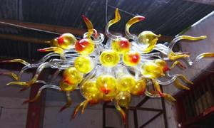 Hanging Industrdual Pendant LED Lighting Luz Hot Sale Mini Cristal Bolha Chandelier Modern Mão Blown Art Glass pequeno Chandelier