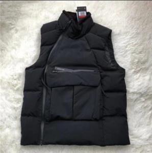 Mens grueso abajo concede el diseñador deporte de invierno chaleco de terciopelo Cuello Marca caliente de la capa de la chaqueta con capucha Zip Lateral de la blusa Parka B101160L