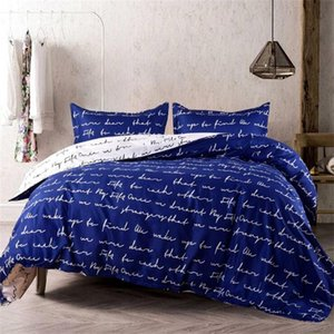2020 Hot Sale Bedding Sets 3 Pcs Duvet Cover High Quality Love Letter Modern Bed Set Bedding Supplies In Stock