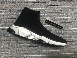 Erkekler HIZ SNEAKER GRAFFITI Marti Çorap Sneakers Boots kadın altları kırmızı Hız Eğitmen Runner Temizle Sole Sneaker Geri Dönüşümlü Kanye üçlü bağ bozumu