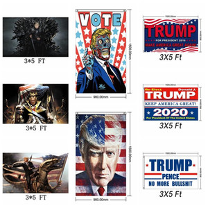 Moda Trump 2020 Bandeira Presidente Eleição Manter Make America Great Again Flags 3x5 FT Support Banner Home Decor LJJ_TA1573