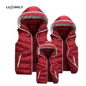 Lusumily Plus Size Gilet Donna Cotone Lana Collare con cappuccio Gilet rimovibile Cappello femminile addensare Inverno Caldo Nero Gilet
