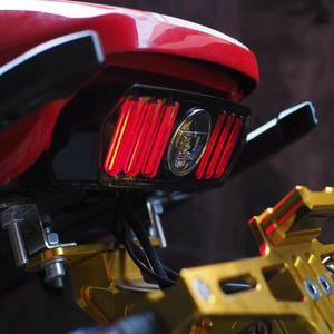 Asamblea 12V universal LED de la motocicleta ATV Dirt Bike freno trasero detener la ejecución de Luz trasera para Honda CBR650F MSX125 CTX700 YG125