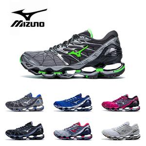 Original novo MIZUNO WAVE Profecia 7 sapatos profissionais para mulheres dos homens preto cinza prata verde roxo azul Athletic Sneaker Esportes Tamanho 36-45