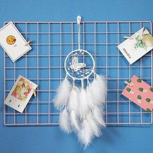 Traumfänger Wind Chimes Anhänger Weiß Schmetterlings-Wand-Hängen Dekorationen Mädchen Raumdekoration Freundin Geburtstagsgeschenk