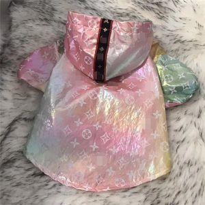 Лето Стильный Pet пальто Открытый Солнцезащитный Дизайн Teddy куртки Модные Красочные Водонепроницаемый Bichion прекрасный Charm Одежда