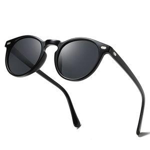 2019 Nueva marca de moda redondas gafas de sol polarizadas para hombres y mujeres TR90 Diseño Marca redonda Sun lentes de los vidrios de la vendimia de conducción al aire libre