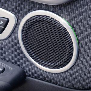 Porta de Carro Áudio Speaker do anel do círculo decorativa Capa guarnição Para BMW X1 F48 2 séries F45 2016-18 decalques Interior