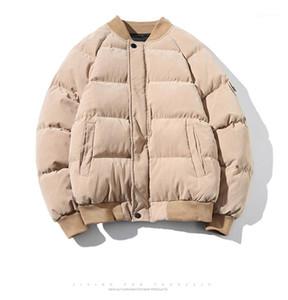 Bolsillo de invierno Calle Plus Size Tops Mens del diseñador de moda de Down Parkas Japanses Estilo Cremallera y