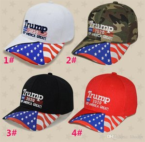 4 styles Donald Trump baseball hat Star USA Flag Camouflage cap Keep America Great 2020 Hat 3D Embroidery Letter adjustable Snapback dc529