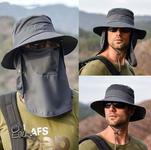 hat Men and women Sun hat summer outdoor quick-drying Prevent bask fisherman hat fishing suit breathable Cover the face mask