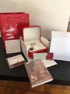 Box de luxo New Praça Vermelha Para Box Assista Cartão Booklet tags e artigos em Inglês Relógios Original Inner Outer Homens Relógio de pulso Box