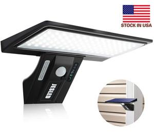 Stok In USA + 90 LED'ler Güneş Işıklar Açık Hareket Sensörü LED Güneş Yard Patio Garage için ışıkları su geçirmez 3 Modlar Süper Parlak Powered